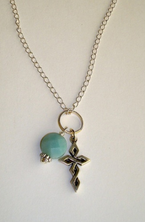 Woven Cross Sterling Necklace - Item #1160