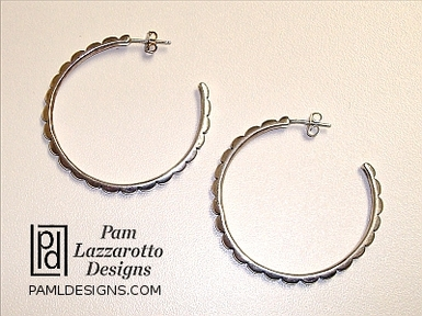 Sterling Hoop Earrings - Item #1366